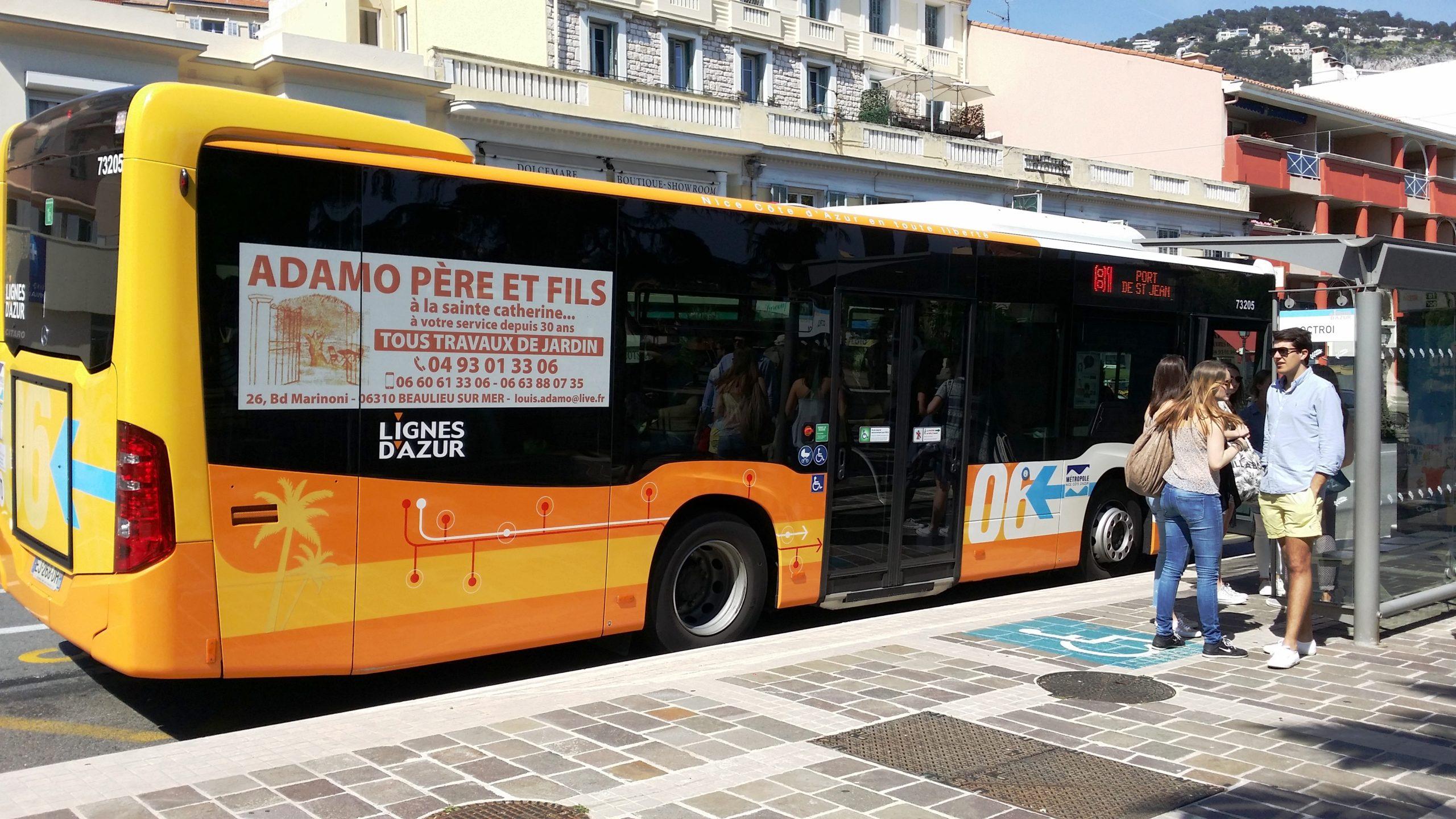 Publicité Bus Alpes Maritimes et Var