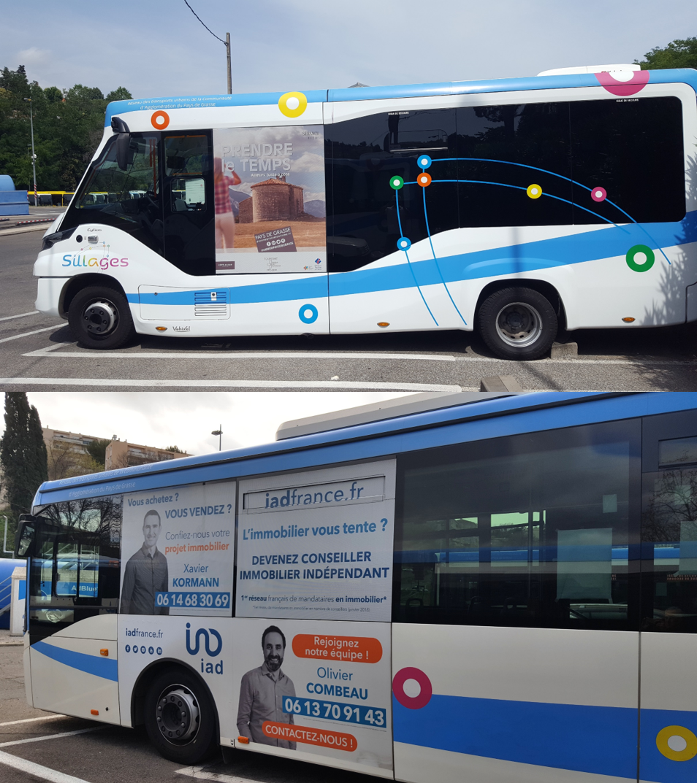 Publicité Bus Syllages Alpes-Maritimes et Var
